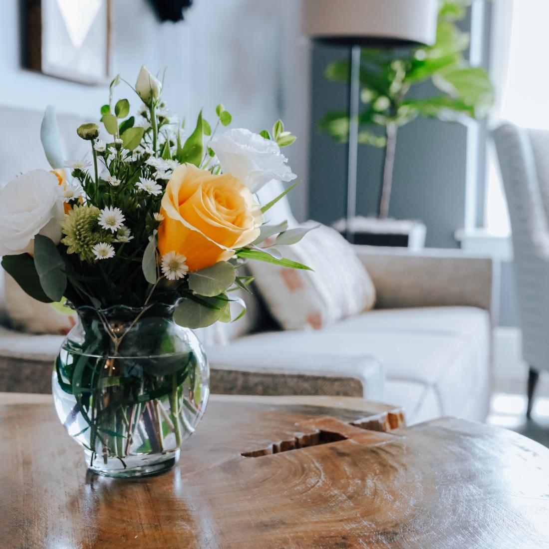 Senior Housing Sitting Room Flowers
