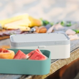 monbento lunch boxes with lid white and teal